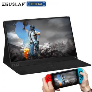 ZEUSLAP portable lcd gaming monitor lcd hd monitor 15.6 usb type c hdmi for laptop,phone,xbox,switch and ps4